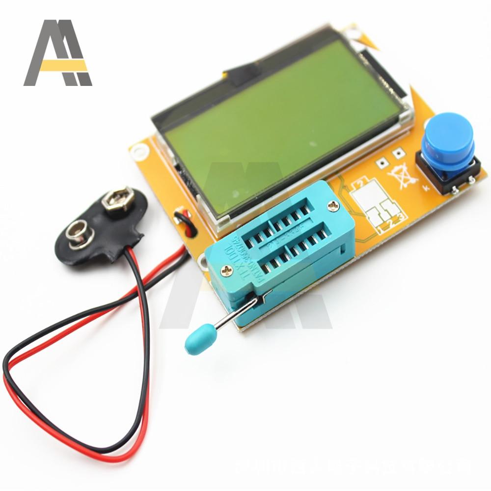 Тестер транзисторов с ЖК дисплеем, тестер транзисторов с ESR-T4 диодами и триодами, емкость V2.68 MOS/PNP/NPN LCR