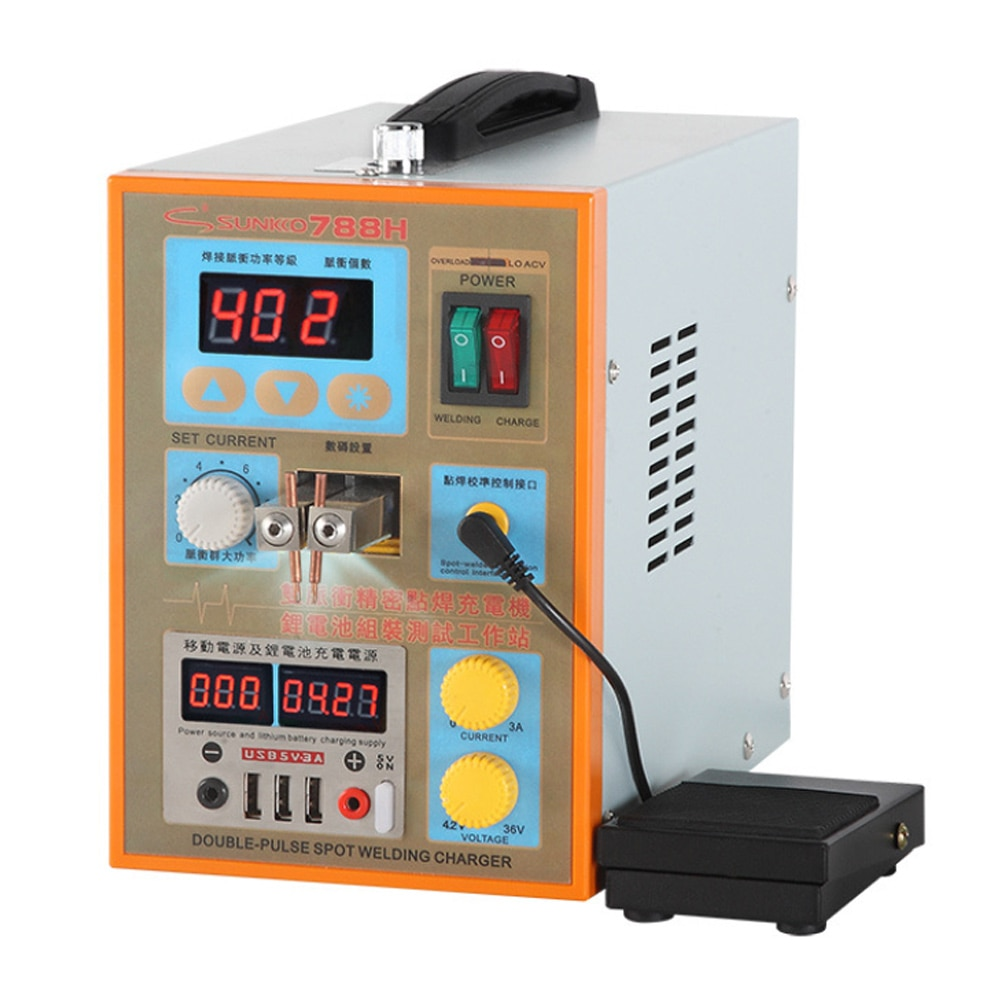 SUNKKO788H Dual-use Battery Spot Welder USB Pulse Spot Welding Machine for 18650 lithium battery pack production spot welding pulse production technology