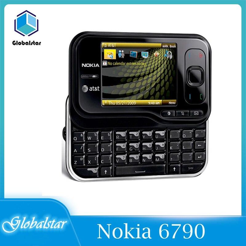 Перейти на Алиэкспресс и купить Nokia 6790 отремонтированный Оригинальный разблокированный перенапряжения телефона 2,4 дюймов, 3G, с функцией Bluetooth A-GPS FM радио 6790 мобильного теле...
