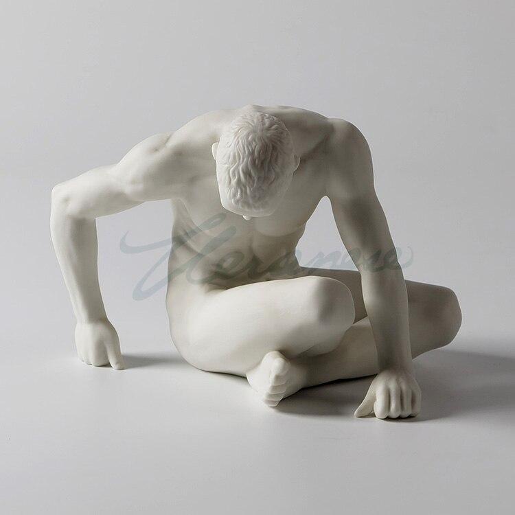 Presente de Aniversário Decoração para Casa Veronica Cerâmica Decoração Fosco Simples Moderno nu Homem Escultura Arte Venda Quente