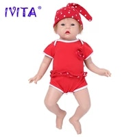 ivita wg1521 50cm 3 6kg realistic silicone reborn baby 3 colors eyes choices newborn girl baby toys for children christmas gift