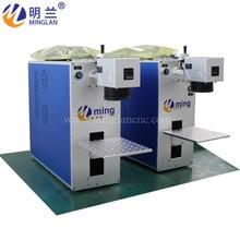 Imprimante laser dacier inoxydable de couleur de prix de Machine de marquage de laser de Fiber de 150*150mm avec du CE et FDA