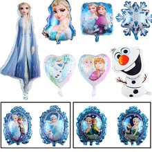 Frozen Elsa Anna Princess Balloon Baby Shower Kids Birthday Party Decoration Double-sided balloon Al