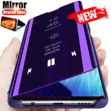 Smart Mirror Flip Case For Samsung Galaxy S10 S9 S8 S20 S21 S30 Plus A51 A31 A71 A70 A50 A12 M31 Note 8 9 10 20 UItra Cover Case