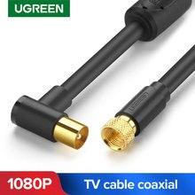 Коаксиальный кабель Ugreen, телевизионная антенна, кабель для HD ТВ, цифрового аудио, видео, радиочастотного ТВ, спутникового типа «Папа-папа», коаксиальный кабель AV