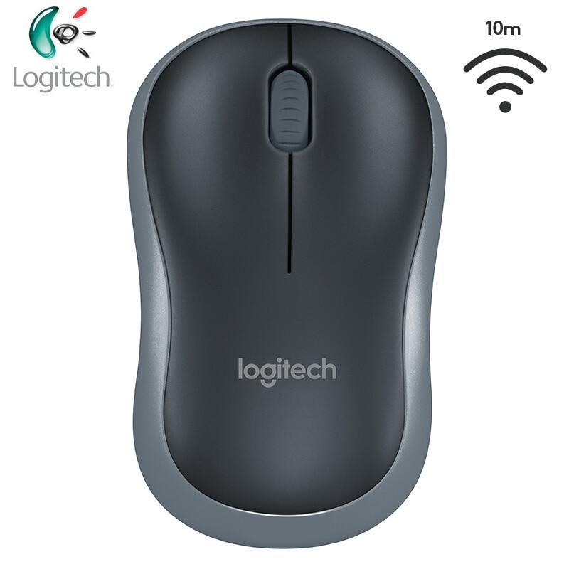 Ratón inalámbrico de diseño simétrico Logitech M185 con nanoreceptor USB para Windows Mac OS Linux compatible con prueba oficial