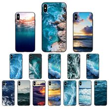 Yinuoda pôr do sol do oceano Sea wave TPU caso de Telefone Silicone Macio para Apple iPhone 8 7 6 6S Plus X XS MAX 5 5S SE XR Tampa