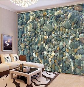 Custom 3D Curtain Blackout Window Curtains For The Living Room Bedroom Photo 3D Curtain stone