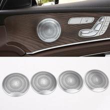 Garniture de couvercle de porte de voiture   4 pièces pour Benz C E Class W205 W213 GLC200 2015-2018, flambant neuf et de haute qualité