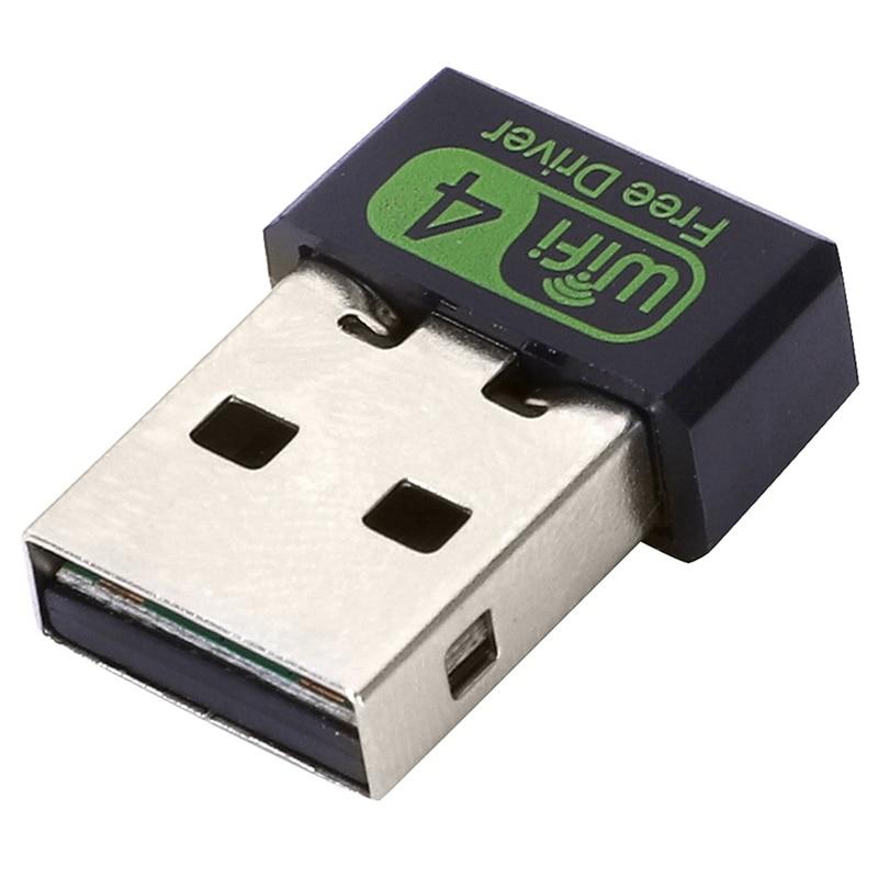 Driver 150Mbps adaptador Wifi Usb 2,4 Ghz tarjeta receptora de red Ethernet inalámbrica para Pc Windows