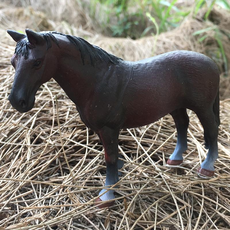Mini hueca tipo plástico juguete de granja de animales acción figura de simulación caballo Modelo figura de animación
