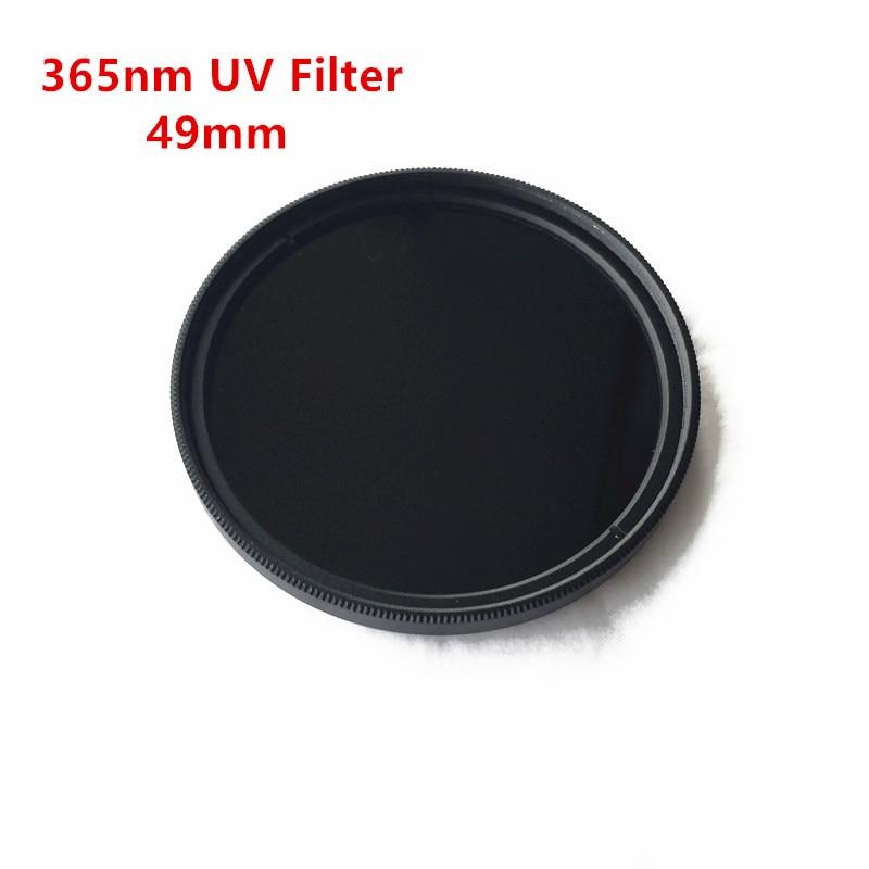 49mm 365nm UV Pass Cámara filtro ZWB2 UG1 U-360 ultravioleta Bandpass negro vidrio Visible corte de luz