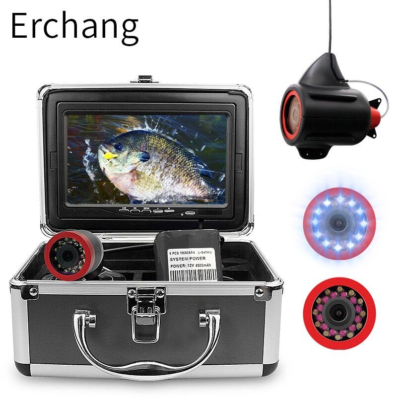 Fishing Camera 7.0 Inch 15m 1000TVL Underwater Fish Finder 12pcs Infrared+12pcs White LEDs Lamp Fishfinder For Fishing