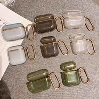 plating clear headphone cases for transparent soft tpu earphone case cover accessories for coque hook