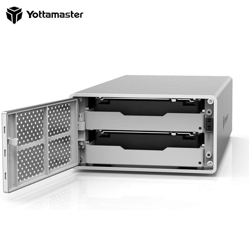 Yottamaster PS200RU3 HDD Enclosure Aluminum 2 Bay 2.5