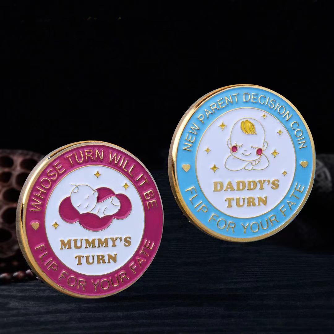 Детские монеты для вызова новички родители решение монета забавная игра золотые монеты серебряные монеты набор памятных монет подарки