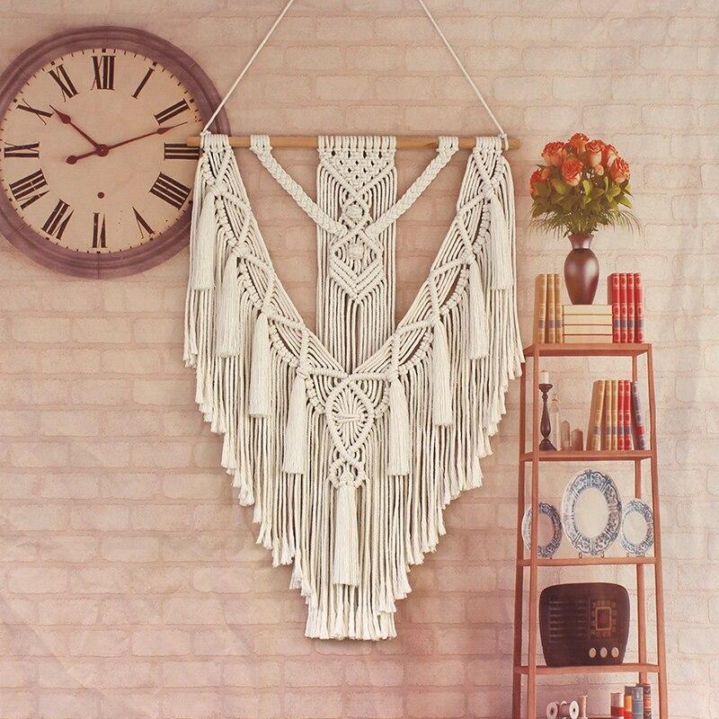 В богемном стиле гобелены Макраме Тканые настенный гобелен геометрический художественные гобелены красивая квартира оформления комнаты в...