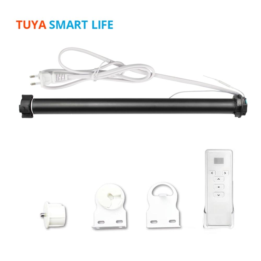 Tuya WiFi الذكية الستار المحرك ل 36 37 مللي متر أنبوب أليكسا جوجل المنزل التحكم عن الأسطوانة أعمى بمحركات مصراع المحرك