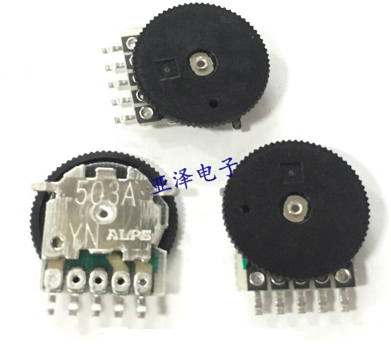 RK10J11R0021A SMD Wheel Potentiometer 14*1MM Mono A50K