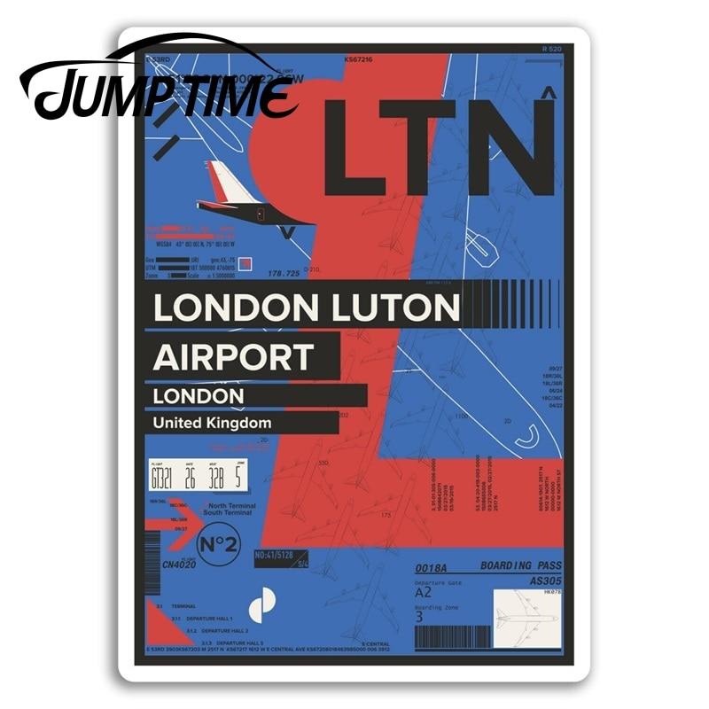Tiempo de salto para Londres Luton aeropuerto pegatinas de vinilo Inglaterra Gran...