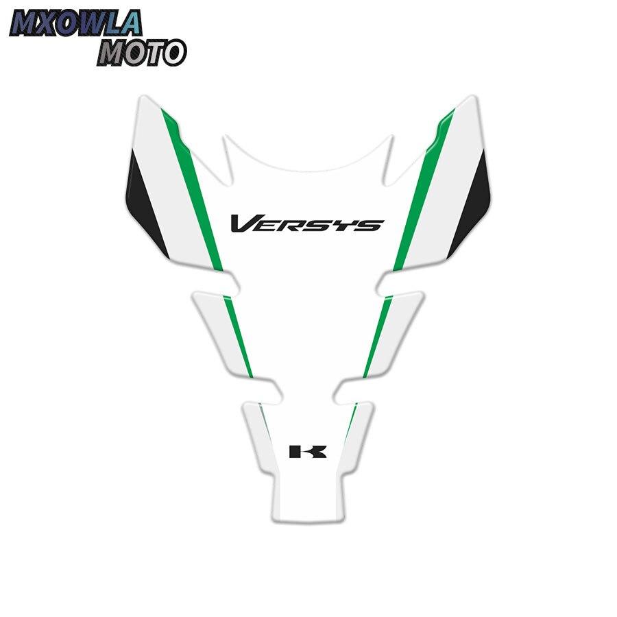 Мотоциклетные аксессуары, набор 3D наклеек из волокна, наклейка на бак, набор защитных накладок для Versys 650, 1 комплект