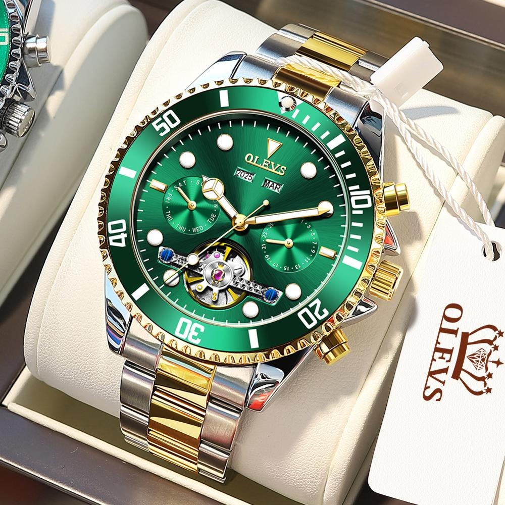 2021 OLEVS Top Brand New Mechanical Men's Watches for men Luxury 30ATM Guaranteed Citizen Watch Diving Watches Watches Mens Men