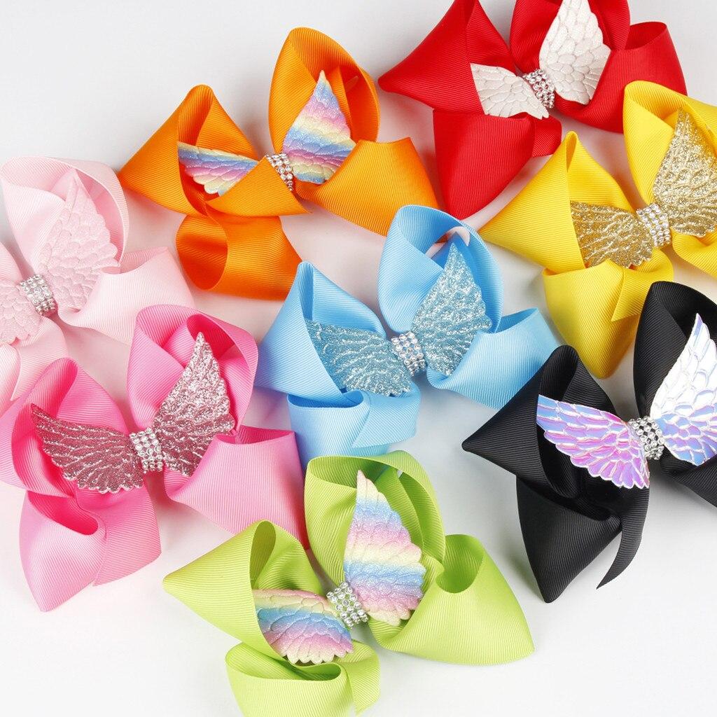 Accesorios de horquilla para niñas y bebés, accesorios de pasadores, alas de arco iris, lazos para el pelo, horquilla de tienda, cinta, accesorios para cabellos de niños