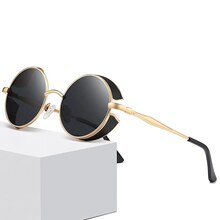 Retro round luxury steampunk sunglasses vintage metal sunglasses male female classic sunglasses uv40
