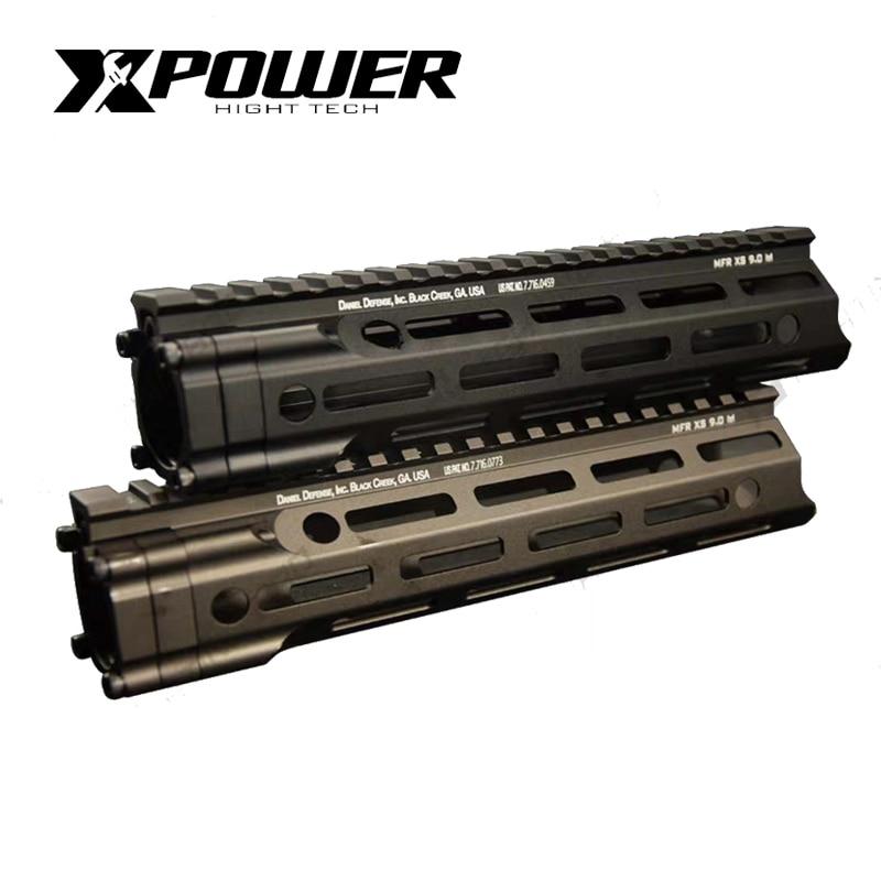 XPOWER MFR Rail Hanguard 7/9/13.5 inch For Gearbox Airsoft Paintball Pistol Tactical Air Gun Sport Shooting