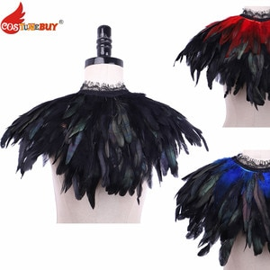 CostumeBuy Feather Shawl Cape Victoria stage performance witch costume shoulderwear Shawl model catwalk show photography prop