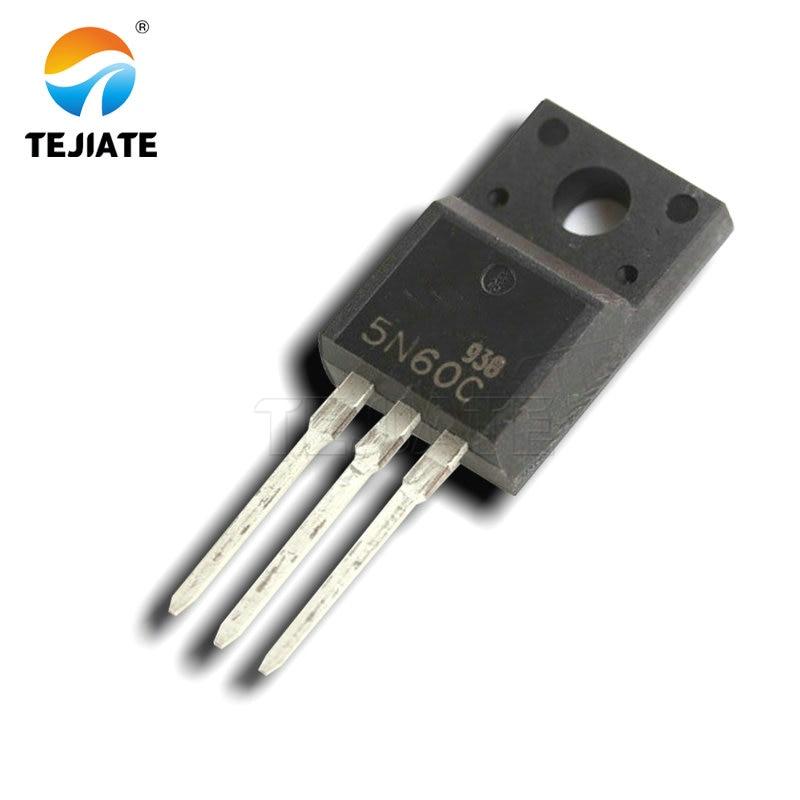 10 piezas FQPF5N60C TO-220F FQPF5N60 5N60C 5N60 TO220-220 nuevo transistor MOS FET