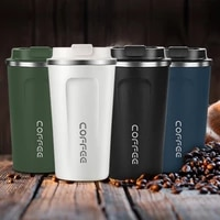 stainless steel coffee cup vacuum insulated water bottle milk cup home office car with lid 380510ml thermos cup