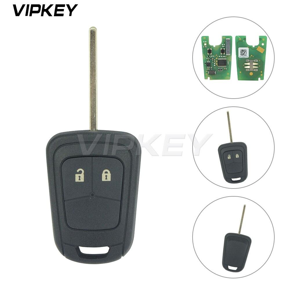 Remotekey Remote key 2 button 433Mhz ID46 chip for Chevrolet Aveo 2011 2012 2013 2014 13579236