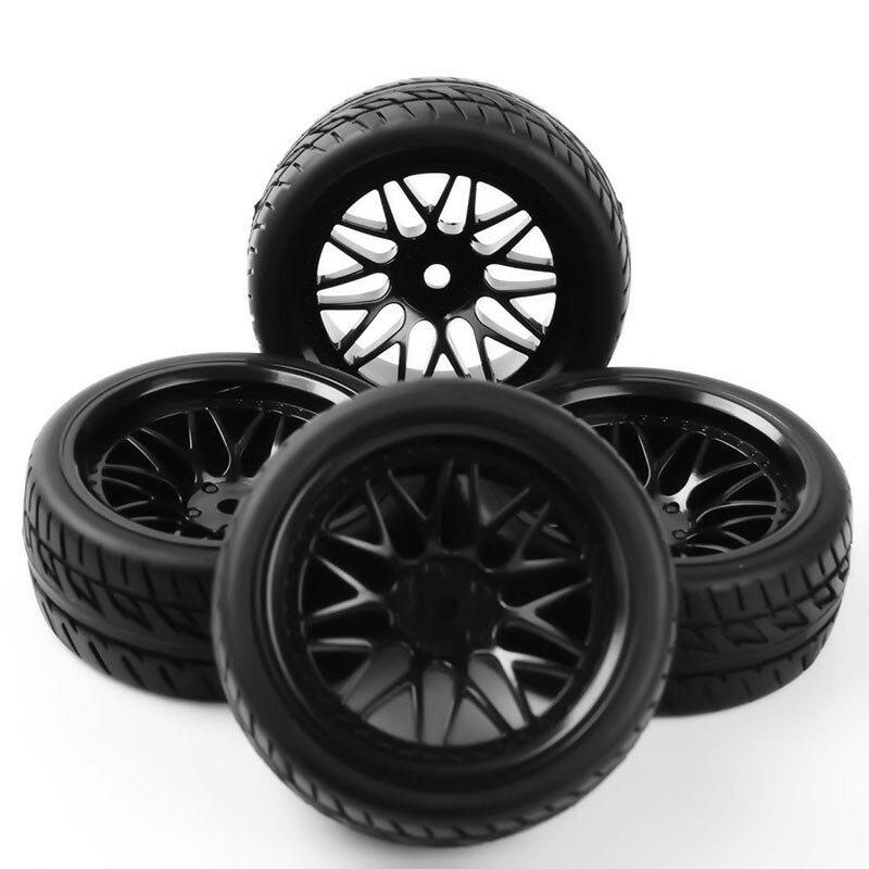 4 шт. 1/10 шины обод колеса Набор 12 мм шестигранный PP0150 + BBNK резиновые шины подходят для моделей HSP RC 1:10 весы на дороге гоночный автомобиль