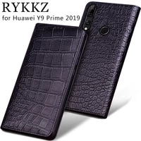 cowhide luxury genuine leather case for huawei y9 prime 2019 enjoy z 5g 20 pro magnetic flip cover