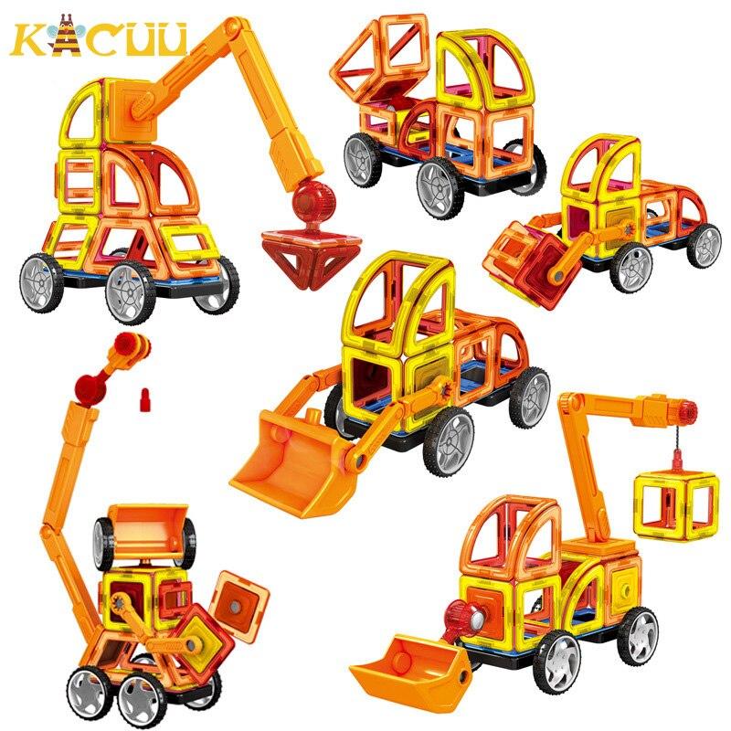 Большие размеры инженерные транспортные магнитные блоки Contructor DIY магниты строительные блоки Развивающие дизайнерские блоки игрушки для де...