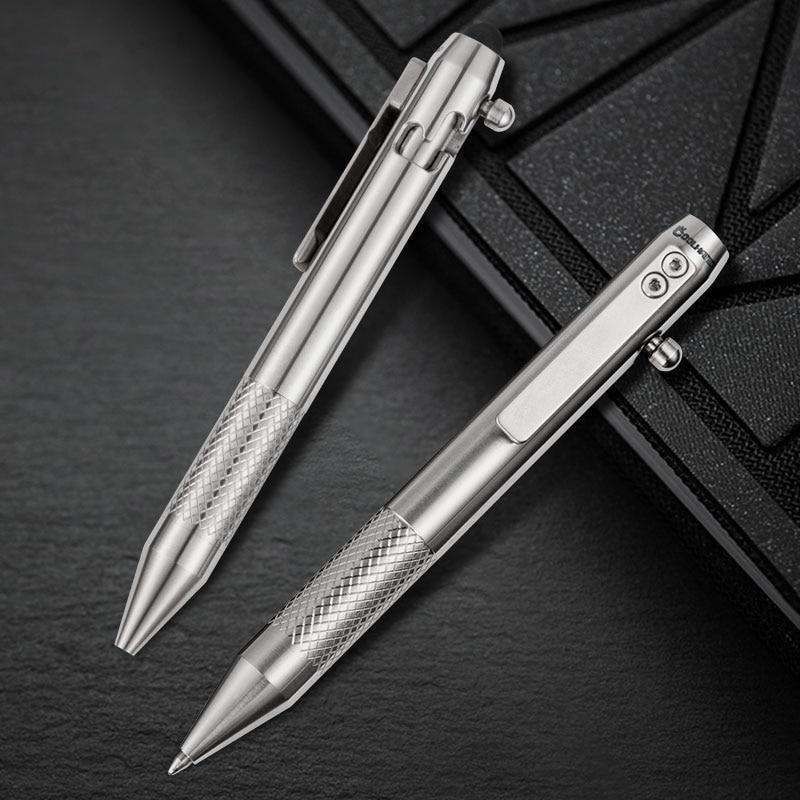 قلم برغي من سبائك التيتانيوم ، قلم تكتيكي متعدد الوظائف EDC للأعمال