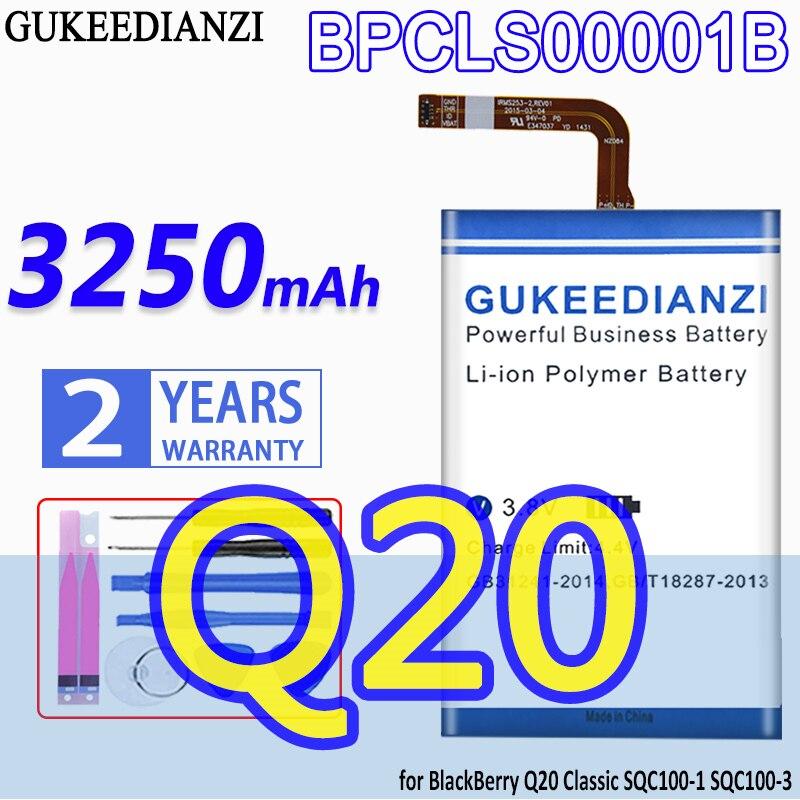 GUKEEDIANZI de alta capacidad de la batería BPCLS00001B 3250mAh para BlackBerry Q20...