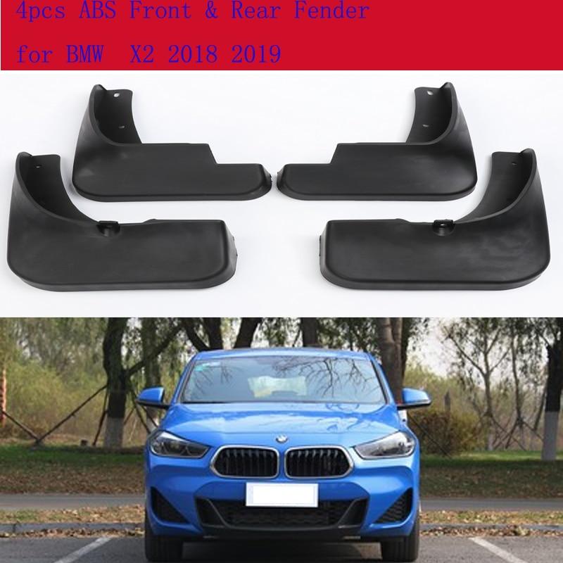 High-quality 4pcs ABS Front & Rear Fender for BMW  X2 2018 2019 Car Mud Flaps Splash Guard Mudguard Mudflaps Accessories
