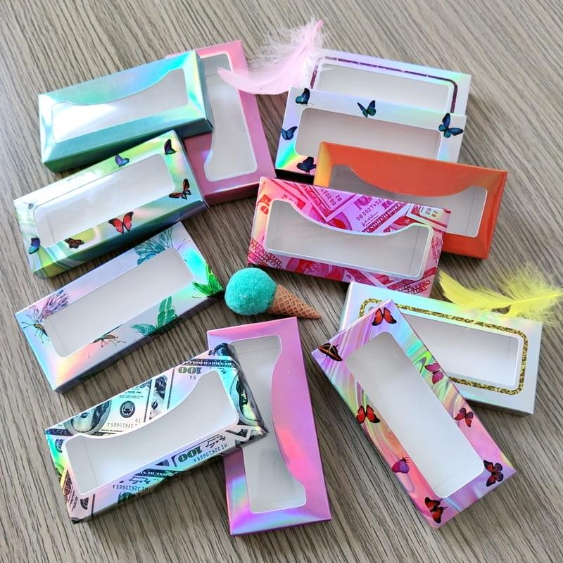 Коробка для ресниц 20/50/100 шт., коробки для ресниц оптом, пустые коробки для ресниц, чехол 8-25 мм, прямоугольная коробка для ресниц