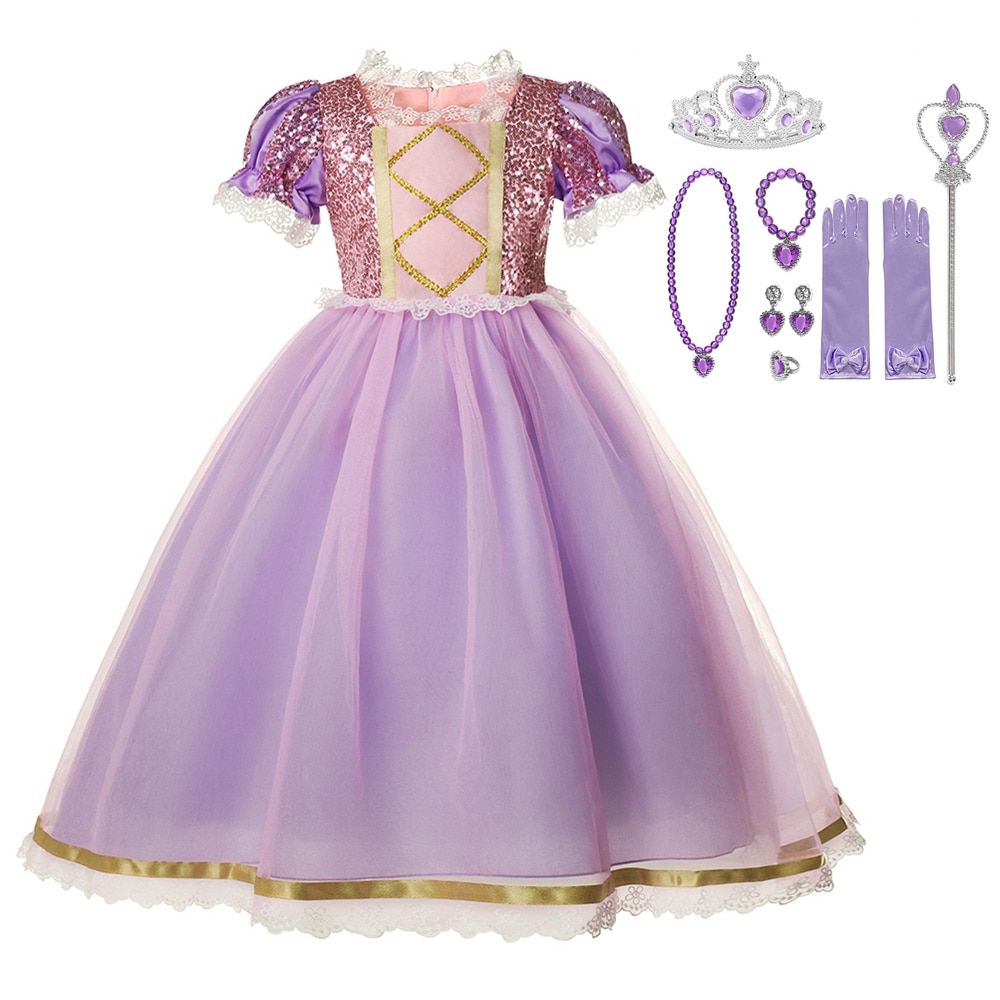 halloween children s costume cosplay girl horror vampire death ghost clothes little witch long sleeve costume girls prom dress Girls Clothes Sequins Lace Mesh Prom Dress Kids Halloween Party Cosplay Clothing Girl Princess Dress Costume
