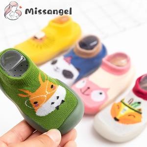 Children Anti-slip Shoes Newborn Baby Girl Cotton Non-slip Floor Socks Baby Boy Rubber Sole Cartoon Indoor Socks Infant Shoes
