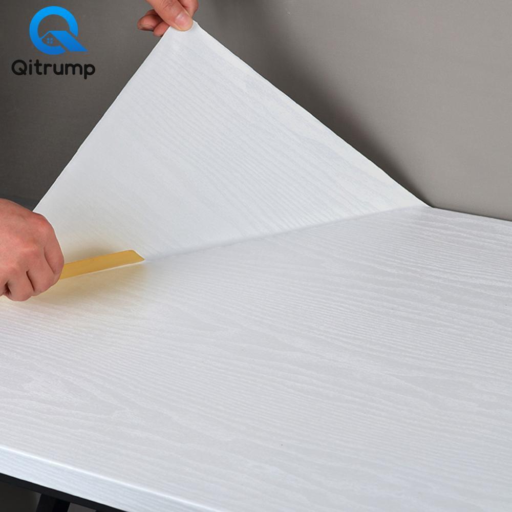 Papel tapiz decorativo 3D de grano de madera para el hogar, engrosamiento de pegatinas impermeables de PVC, autoadhesivo para cocina, armario, mejoras para el hogar