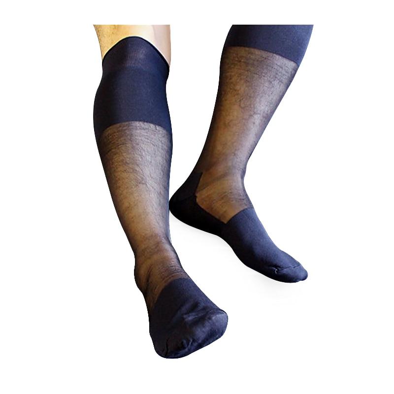 رجل الركبة عالية الحرير خرطوم جوارب في اللعب ذكر جوارب حريريّة أفضل نوعية سميكة N رقيقة شير الجوارب للذكور البحرية