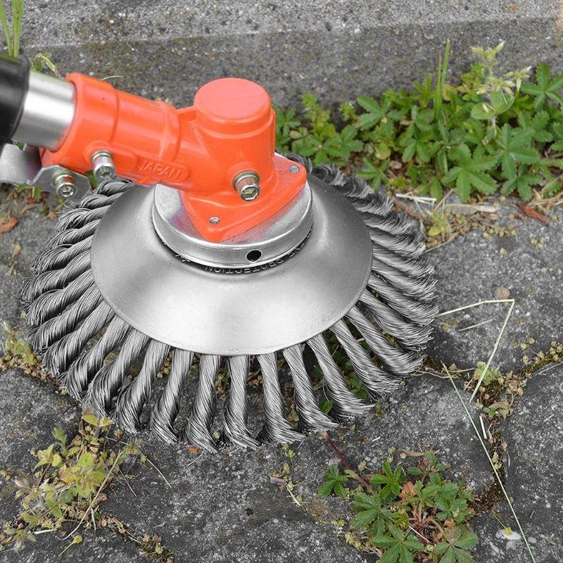 Cepillo de alambre de acero de 6/8 pulgadas para césped, cabezal de corte, cortacésped, rueda para deshierbe, herramientas de corte, herramienta para el cuidado de césped y jardín
