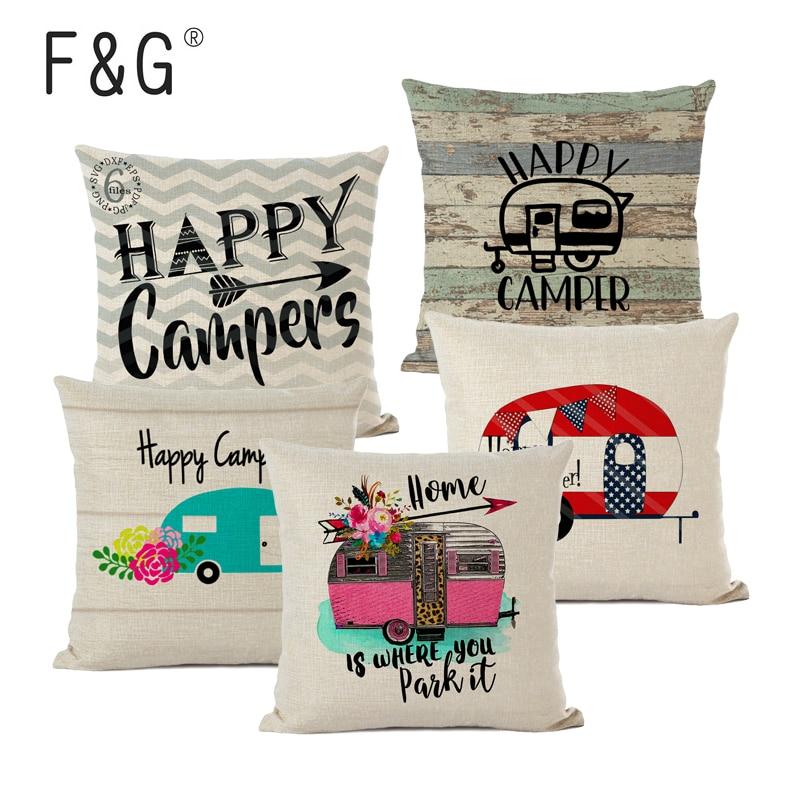 Наволочка для подушки для кемпинга, декоративные подушки для дома и сада, наволочка для подушки, льняные подарки, декоративные подушки для д...