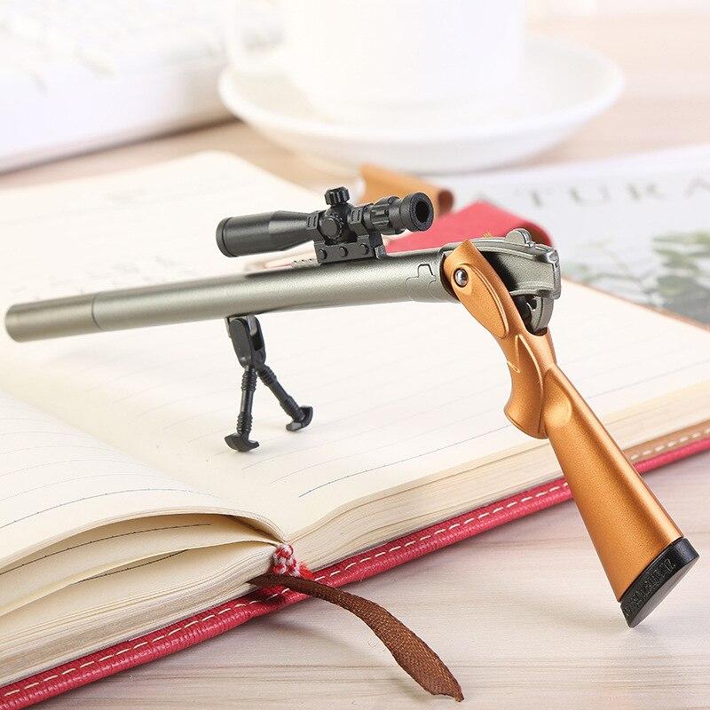 Caneta de gel sniper rifle kawaii 0.5mm bonito festão plástico escritório lapitas suprimentos papelaria kalem material escolar