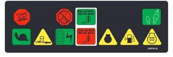 Zugang ausrüstung teile JLG boom lift teil 1707111 aufkleber