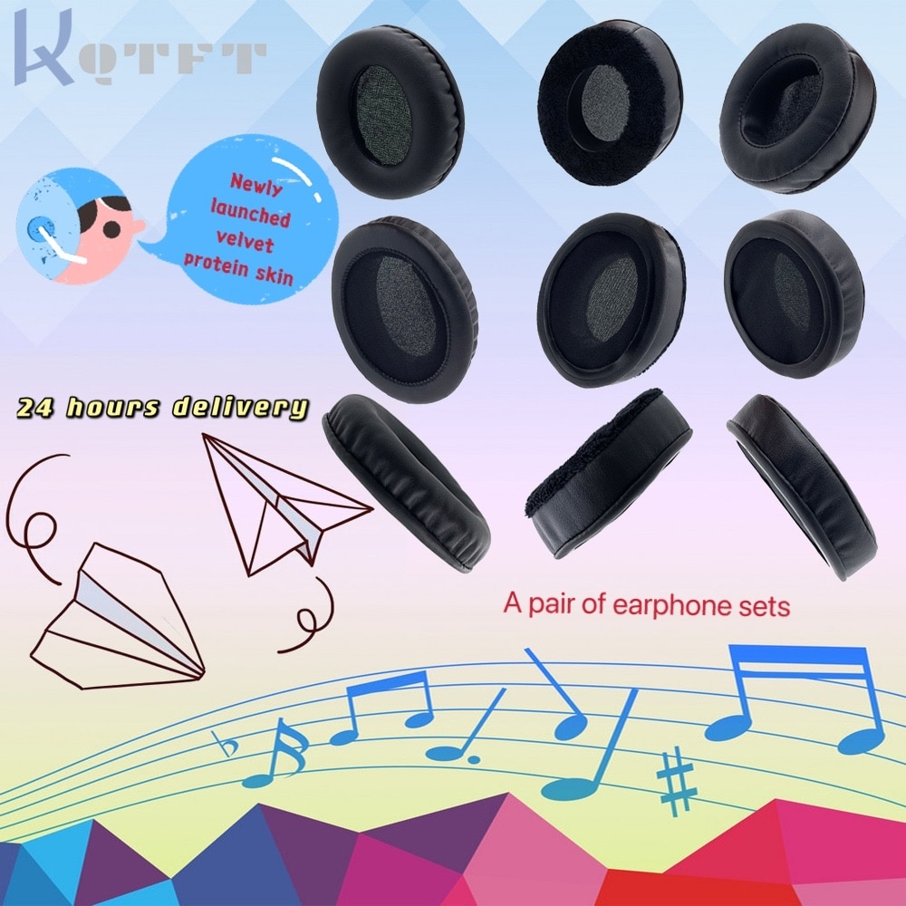 Earpads Velvet for Audio-technica ATH-ANC70 ATH ANC 70 Headset Replacement Earmuff Cover Cups Sleeve pillow Repair Parts