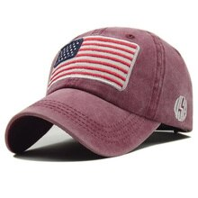 Gorras militares de verano para hombres, gorras de béisbol sólidas tácticas, gorras de béisbol diseñadas con rayas de la bandera de EE. UU.
